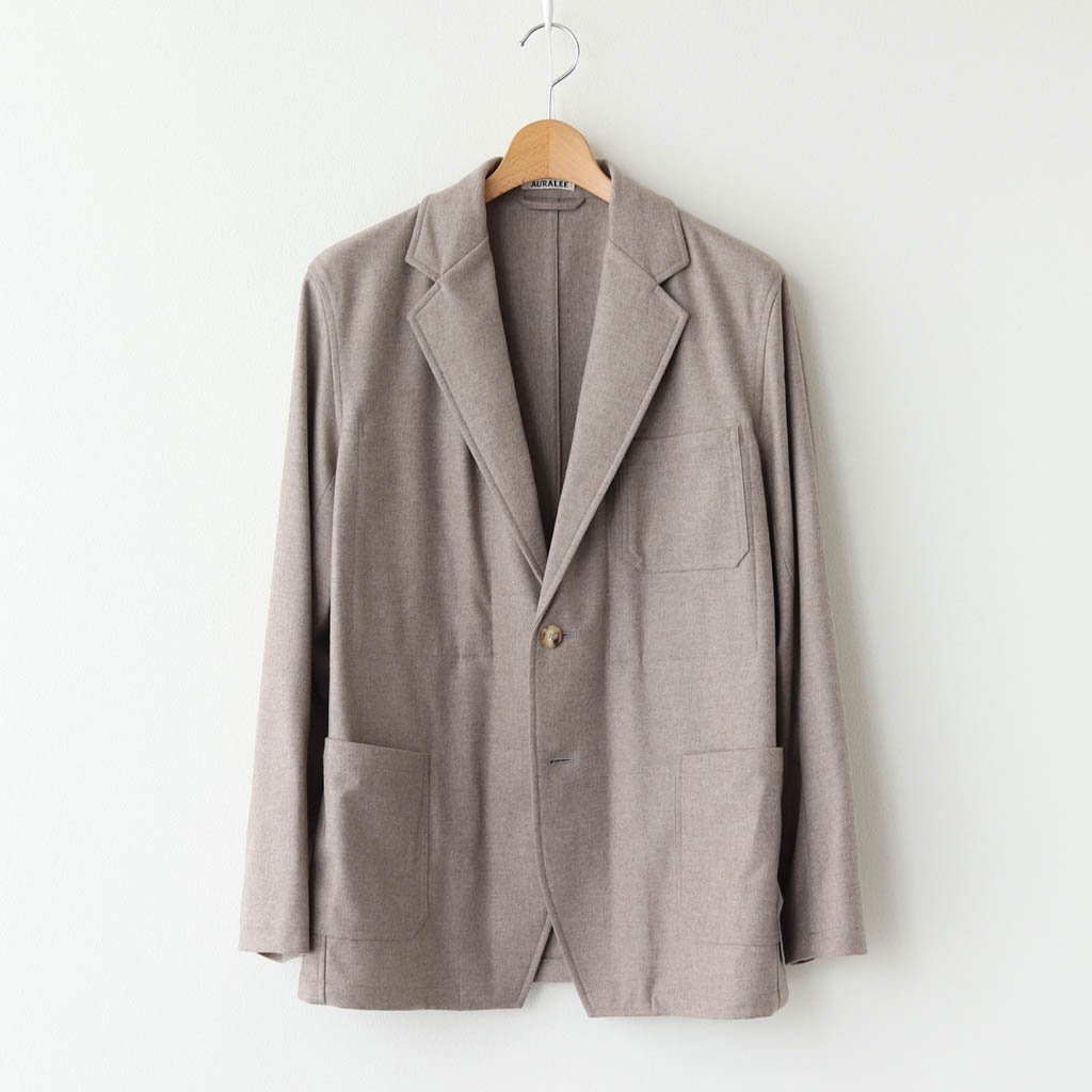 <img class='new_mark_img1' src='https://img.shop-pro.jp/img/new/icons1.gif' style='border:none;display:inline;margin:0px;padding:0px;width:auto;' />WOOL FULLING FLANNEL JACKET #TOP BEIGE [A20AJ01CF]