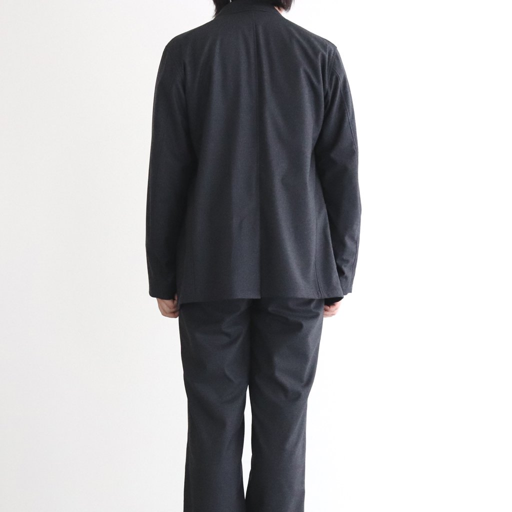 <img class='new_mark_img1' src='https://img.shop-pro.jp/img/new/icons1.gif' style='border:none;display:inline;margin:0px;padding:0px;width:auto;' />WOOL FULLING FLANNEL JACKET #TOP CHARCOAL [A20AJ01CF]