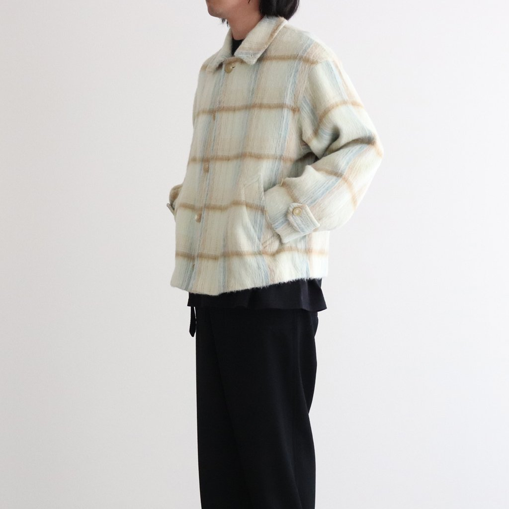 <img class='new_mark_img1' src='https://img.shop-pro.jp/img/new/icons1.gif' style='border:none;display:inline;margin:0px;padding:0px;width:auto;' />SURI ALPACA SHAGGY CHECK BLOUSON #LIME YELLOW CHECK [A20AB01AS]