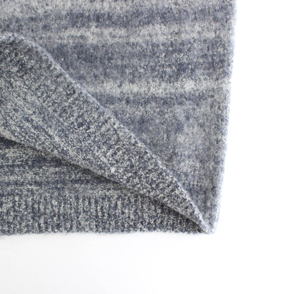 WOOL ALPACA FELT KNIT KNIT P/O #MIX DARK BLUE [A20AP02AP]