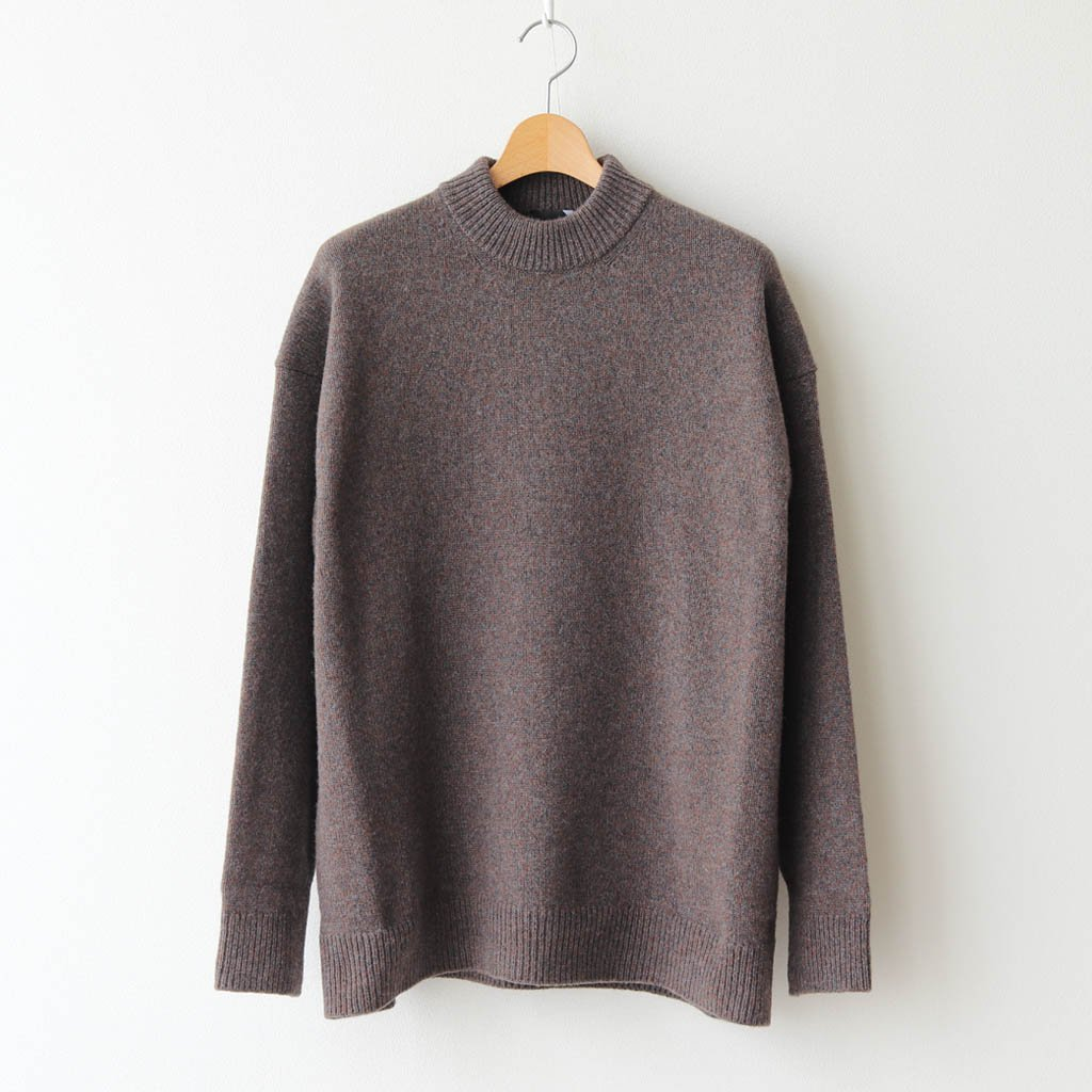 <img class='new_mark_img1' src='https://img.shop-pro.jp/img/new/icons1.gif' style='border:none;display:inline;margin:0px;padding:0px;width:auto;' />SILTE MOULINE OVERSIZED MOCKNECK SWEATER #CHARCOAL GRAY [KRAGBW0903]