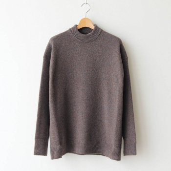 SILTE MOULINE OVERSIZED MOCKNECK SWEATER #CHARCOAL GRAY [KRAGBW0903] _ ATON | エイトン