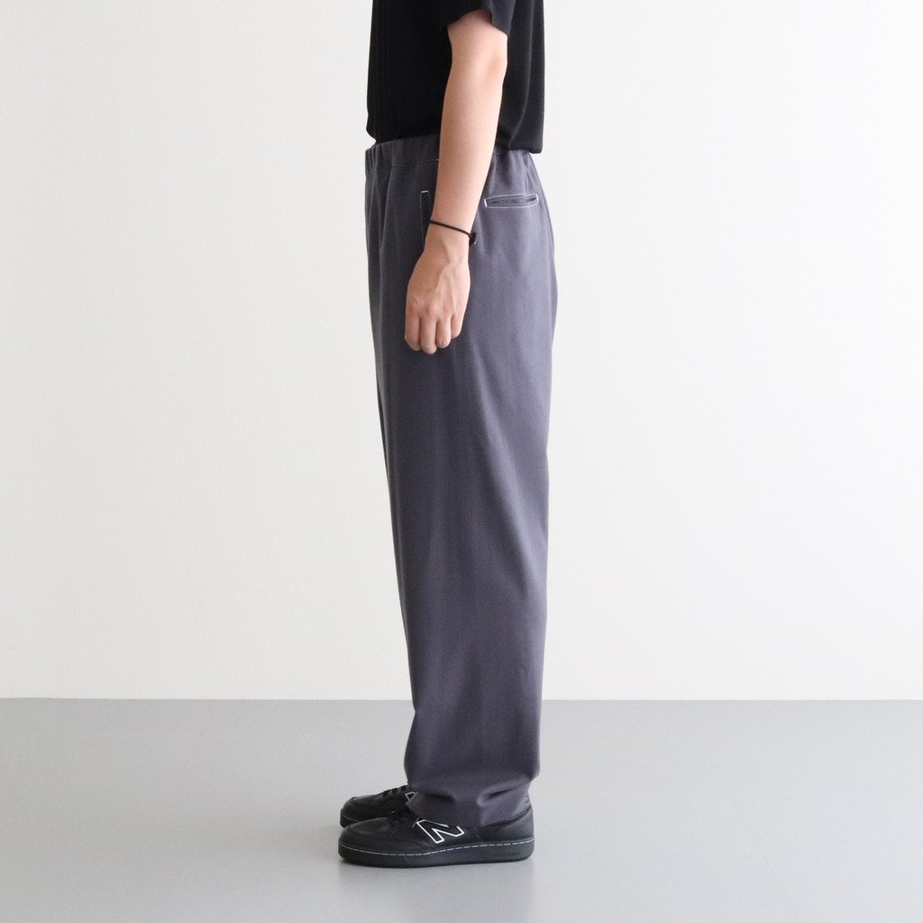 <img class='new_mark_img1' src='https://img.shop-pro.jp/img/new/icons1.gif' style='border:none;display:inline;margin:0px;padding:0px;width:auto;' />WOOL FLANNEL EASY PANTS #C.GRAY [GM203-40068]