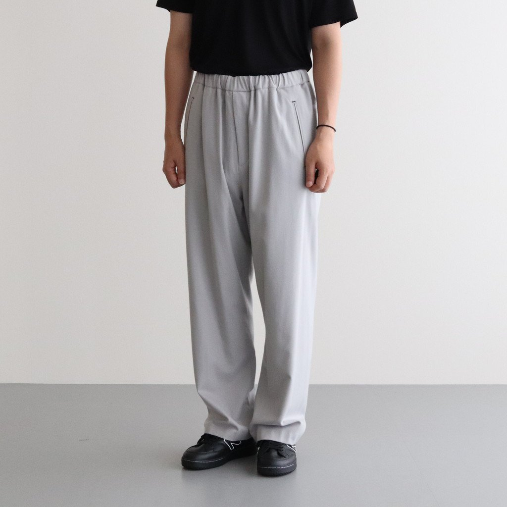 WOOL FLANNEL EASY PANTS #L.GRAY [GM203-40068]