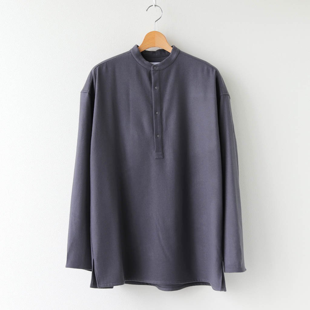 <img class='new_mark_img1' src='https://img.shop-pro.jp/img/new/icons1.gif' style='border:none;display:inline;margin:0px;padding:0px;width:auto;' />WOOL FLANNEL BAND COLLAR SHIRT #C.GRAY [GM203-50091]