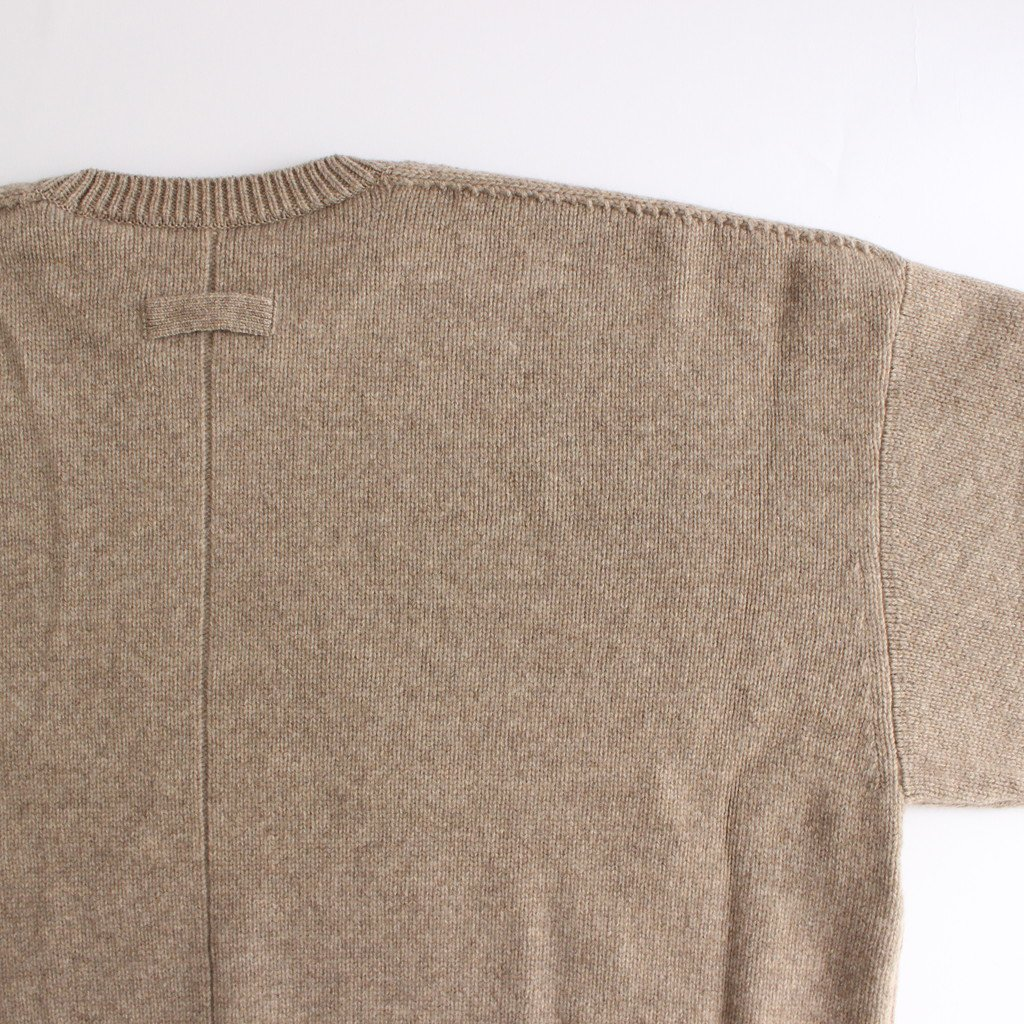<img class='new_mark_img1' src='https://img.shop-pro.jp/img/new/icons1.gif' style='border:none;display:inline;margin:0px;padding:0px;width:auto;' />EX FINE LAMBS CREW NECK KNIT LS #BEIGE [ST.191]