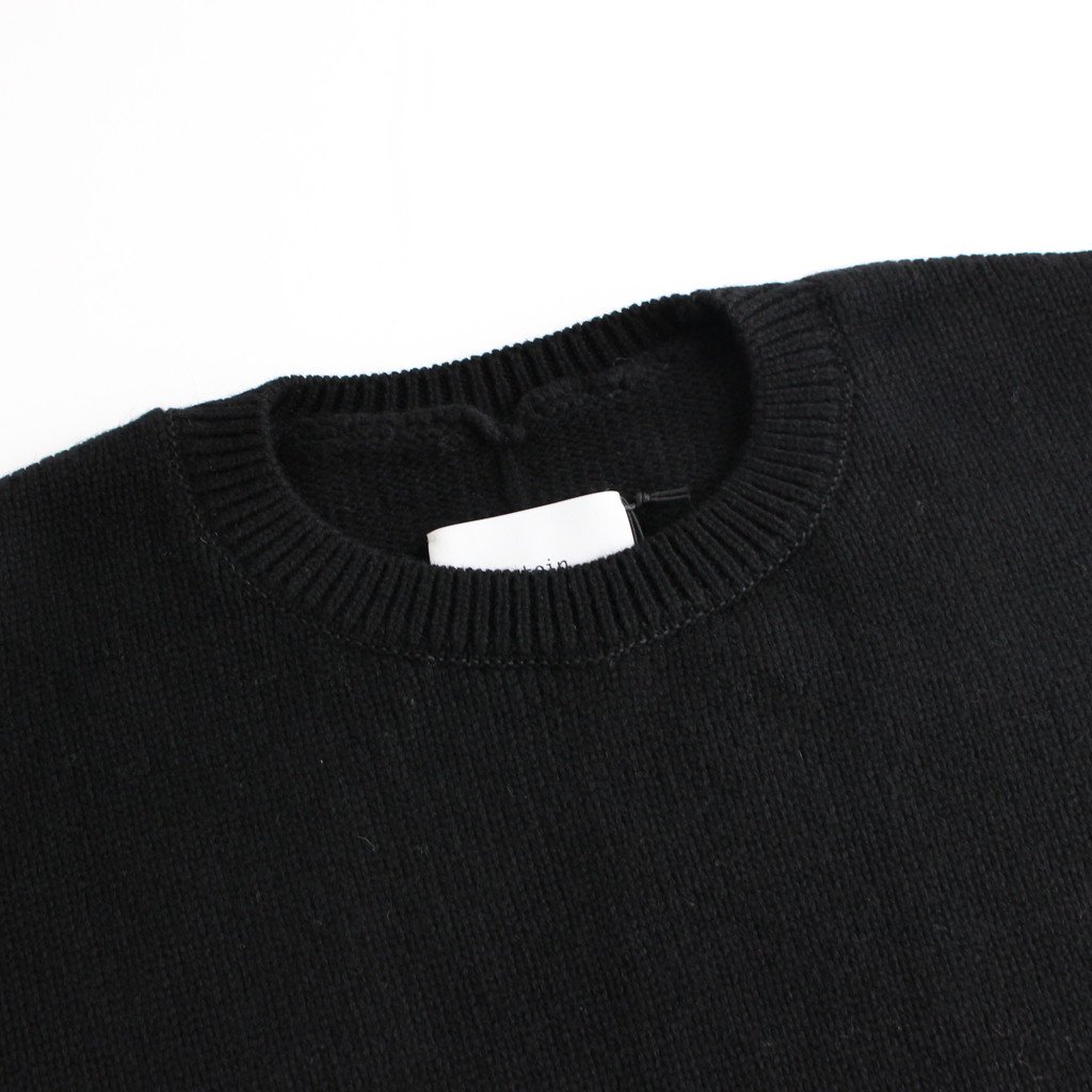 <img class='new_mark_img1' src='https://img.shop-pro.jp/img/new/icons1.gif' style='border:none;display:inline;margin:0px;padding:0px;width:auto;' />EX FINE LAMBS CREW NECK KNIT LS #BLACK [ST.191]