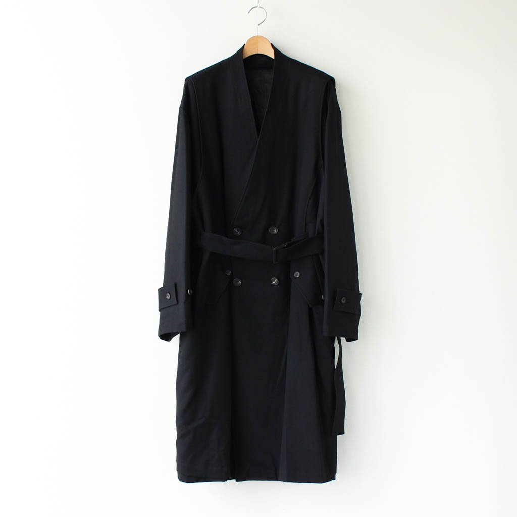 <img class='new_mark_img1' src='https://img.shop-pro.jp/img/new/icons1.gif' style='border:none;display:inline;margin:0px;padding:0px;width:auto;' />OVERSIZED LINEAR NO COLLAR COAT #BLACK [ST.173-1]