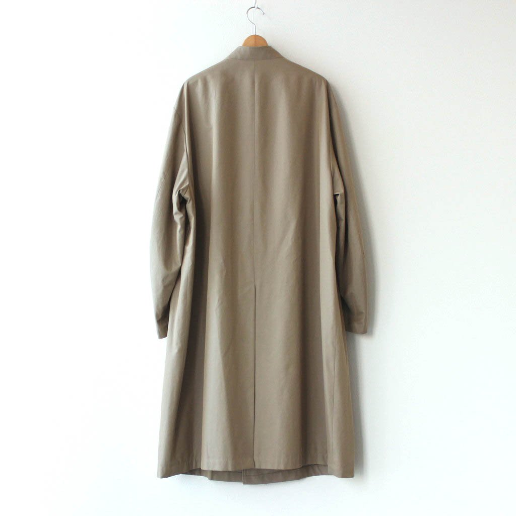 OVERSIZED LINEAR NO COLLAR COAT #BEIGE [ST.173-2]