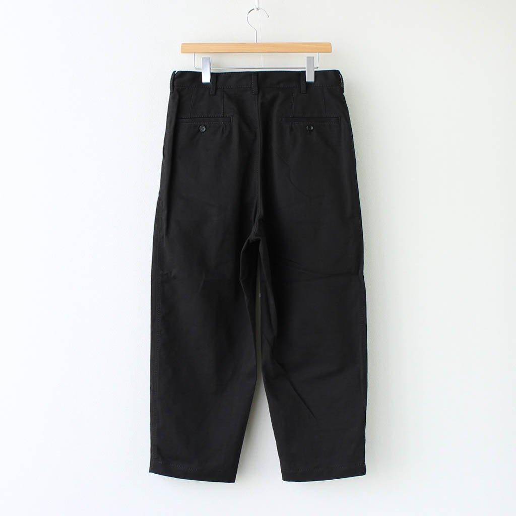 綿チノクロス タックパンツ #BLACK [HF-P015-051]