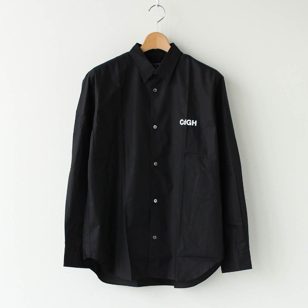 綿ブロード 製品プリント L/Sシャツ #BLACK×WHITE [HF-B015-051]
