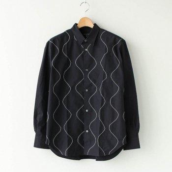 綿ブロード 太番手ステッチ加工 L/Sシャツ #BLACK [HF-B016-051] _ COMME des GARCONS HOMME | コム デ ギャルソン オム
