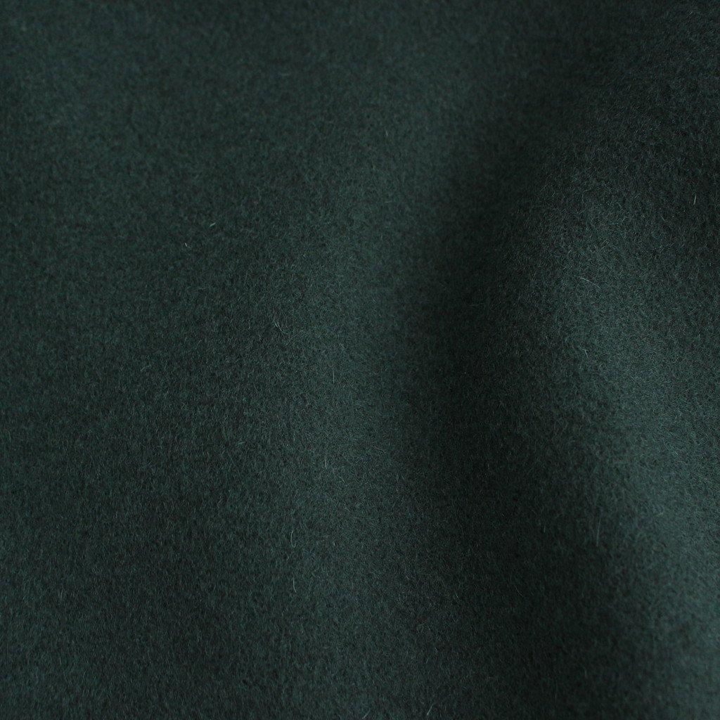 NGOCT Super100'sオーストラリアンラムウールメルトン ステンカラーオーバーコート #BOTTLE GREEN [A0_NC144CT]