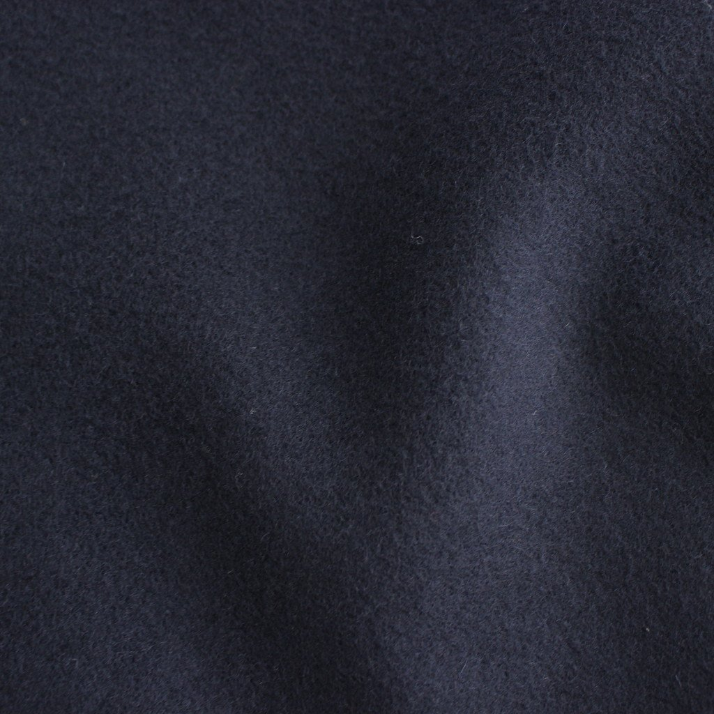 NGOCT|Super100'sオーストラリアンラムウールメルトン ステンカラーオーバーコート #NAVY [A0_NC144CT]