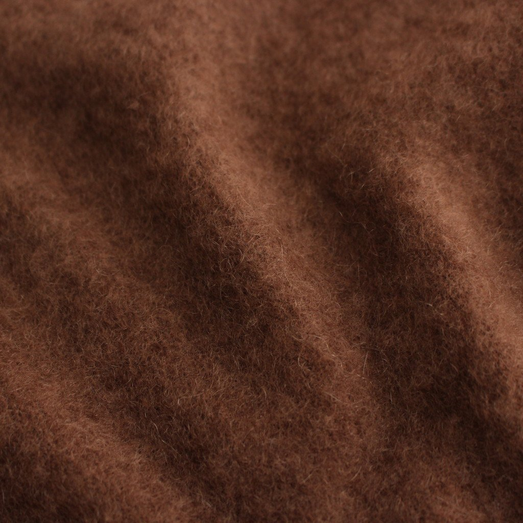FUR CASHMERE CREWNECK PULLOVER #BROWN [KRAGBW0901]