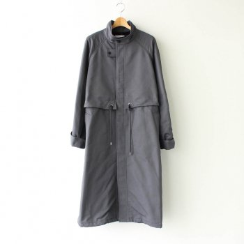 DOUBLE FACE TWILL STAND COLLAR COAT #C.GRAY [GM203-10080] _ Graphpaper | グラフペーパー