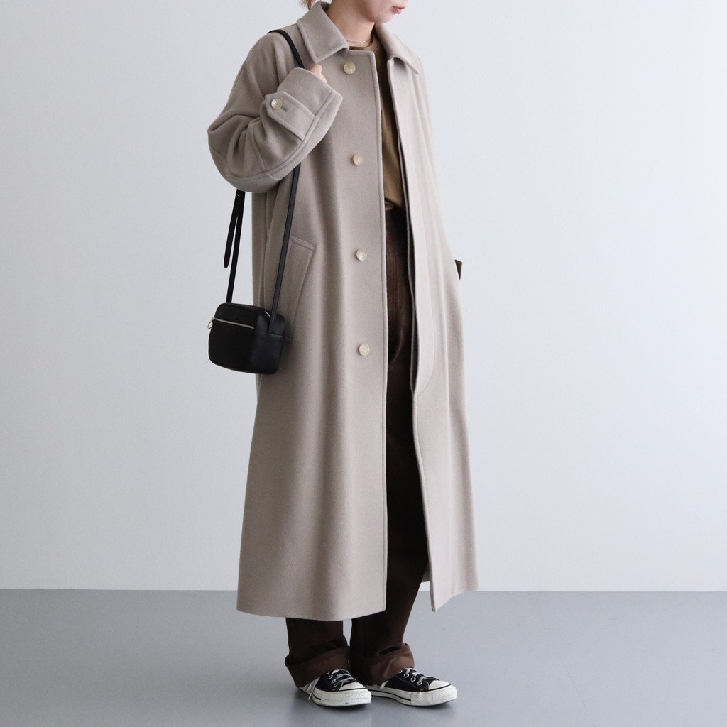 <img class='new_mark_img1' src='https://img.shop-pro.jp/img/new/icons1.gif' style='border:none;display:inline;margin:0px;padding:0px;width:auto;' />CASHMERE WOOL MOSSER BIG COAT #LIGHT GRAY [A20AC02MC]