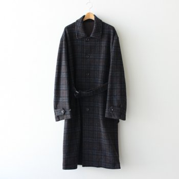 OVER SLEEVE INVESTIGATED COAT #SHADOW CHECK [ST.171-2] _ stein | シュタイン