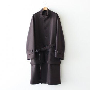 OVER SLEEVE STAND COLLAR COAT #DARK BROWN [ST.172] _ stein | シュタイン
