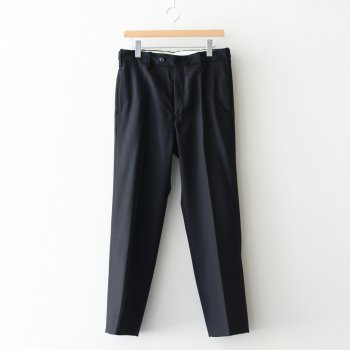 WOOL FLANNEL BACK SLIT STRAGIHT TROUSERS #BLACK [YK20AW0150P] _ YOKE | ヨーク