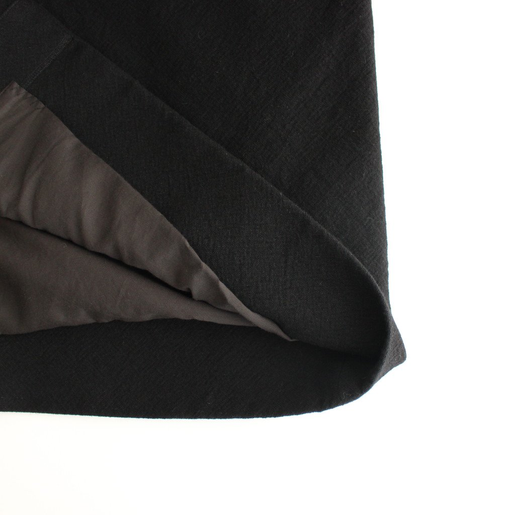 NGSCT キャメルウールマットウース ステンカラーオーバーコート #BLACK&BLACK [A0_NC223CT]