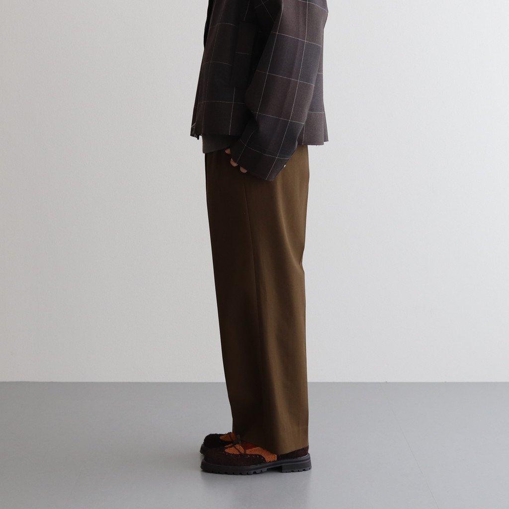 2TUCK WIDE GURKHA TROUSERS #DUSTY BROWN [YK20AW0138P]