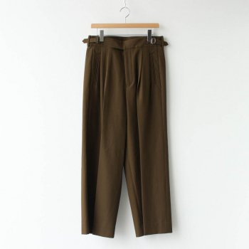 2TUCK WIDE GURKHA TROUSERS #DUSTY BROWN [YK20AW0138P] _ YOKE | ヨーク