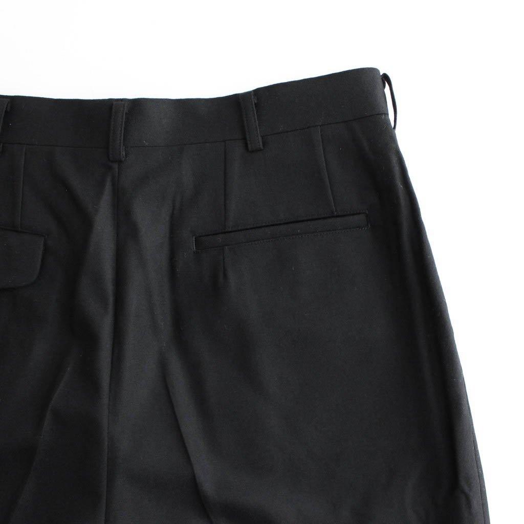 ウールフラノ タックパンツ #BLACK [HF-P039-051]