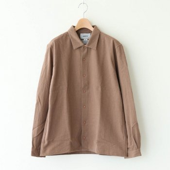 COMFORT SHIRT RELAX SQUARE #BROWN [10154] _ YAECA | ヤエカ