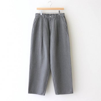COLORFAST DENIM TWO TUCK PANTS #GRAY [GM204-40233B] _ Graphpaper | グラフペーパー
