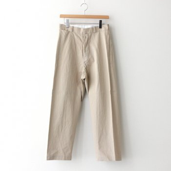 CHINO CLOTH PANTS WIDE STRAIGHT #BEIGE [60654] _ YAECA | ヤエカ