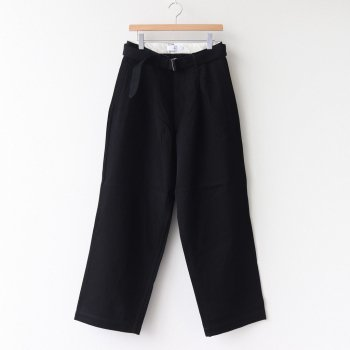 HARD TWILL BELTED PANTS #BLACK [GM211-40002B] _ Graphpaper | グラフペーパー