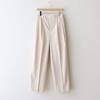FINX NYLON STRETCH SLACKS #IVORY STRIPE [A21SP05FN] _ AURALEE | オーラリー