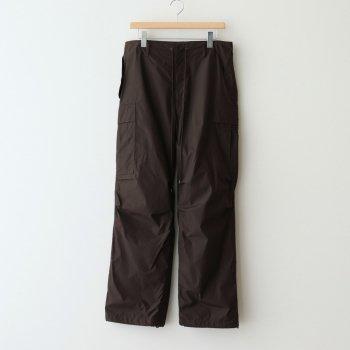 HIGH COUNT LIGHT NYLON FATIGUE PANTS #DARK BROWN [A21SP02NL] _ AURALEE | オーラリー
