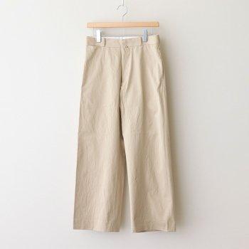 CHINO CLOTH PANTS STRAIGHT #BEIGE [61601] _ YAECA | ヤエカ