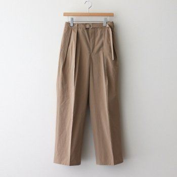 WASHED FINX RIPSTOP CHAMBRAY BELTET PANTS #BEIGE CHAMBRAY [A21SP07FL] _ AURALEE | オーラリー