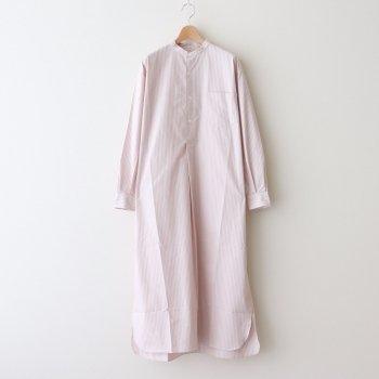 BAND COLLAR PULLOVER DRESS 《STRIPE》 #PINK STRIPE [L2101-DR001] _ LENO   リノ