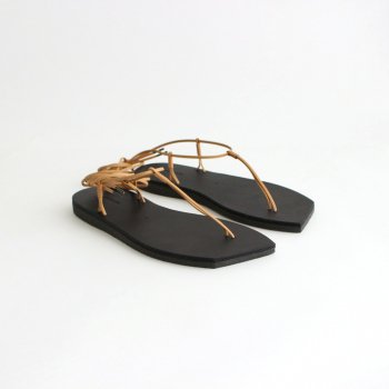 LEATHER LACE-UP SANDALS MADE BY FOOT THE COACHER #BLACK [A21SS04FT] _ AURALEE | オーラリー