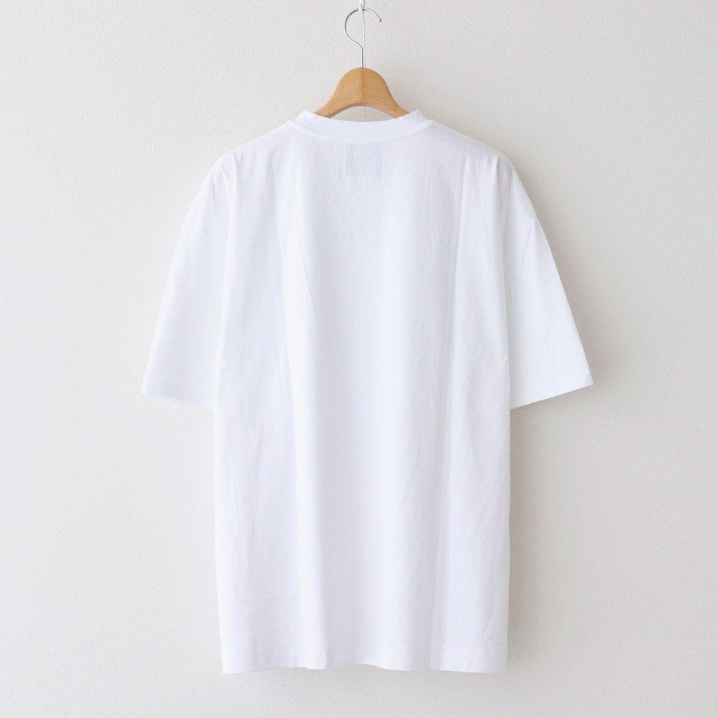 SUVIN 60/2 OVERSIZED T-SHIRT #WHITE [KKAGIM0015]