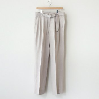 BELTED 2TUCK WIDE TROUSERS #FOG WHITE [YK21SS0203P] _ YOKE | ヨーク