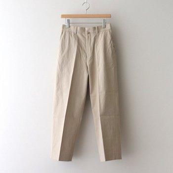 CHINO CLOTH PANTS CREASED #BEIGE [61602] _ YAECA   ヤエカ