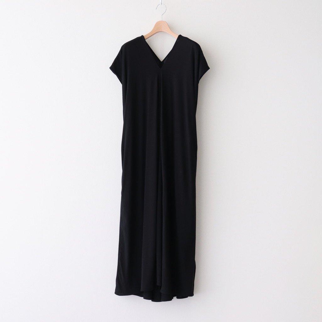 FRESCA ZERO DRAPED DRESS #BLACK [OPAGIM0402]