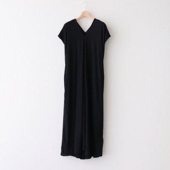 FRESCA ZERO DRAPED DRESS #BLACK [OPAGIM0402] _ ATON   エイトン