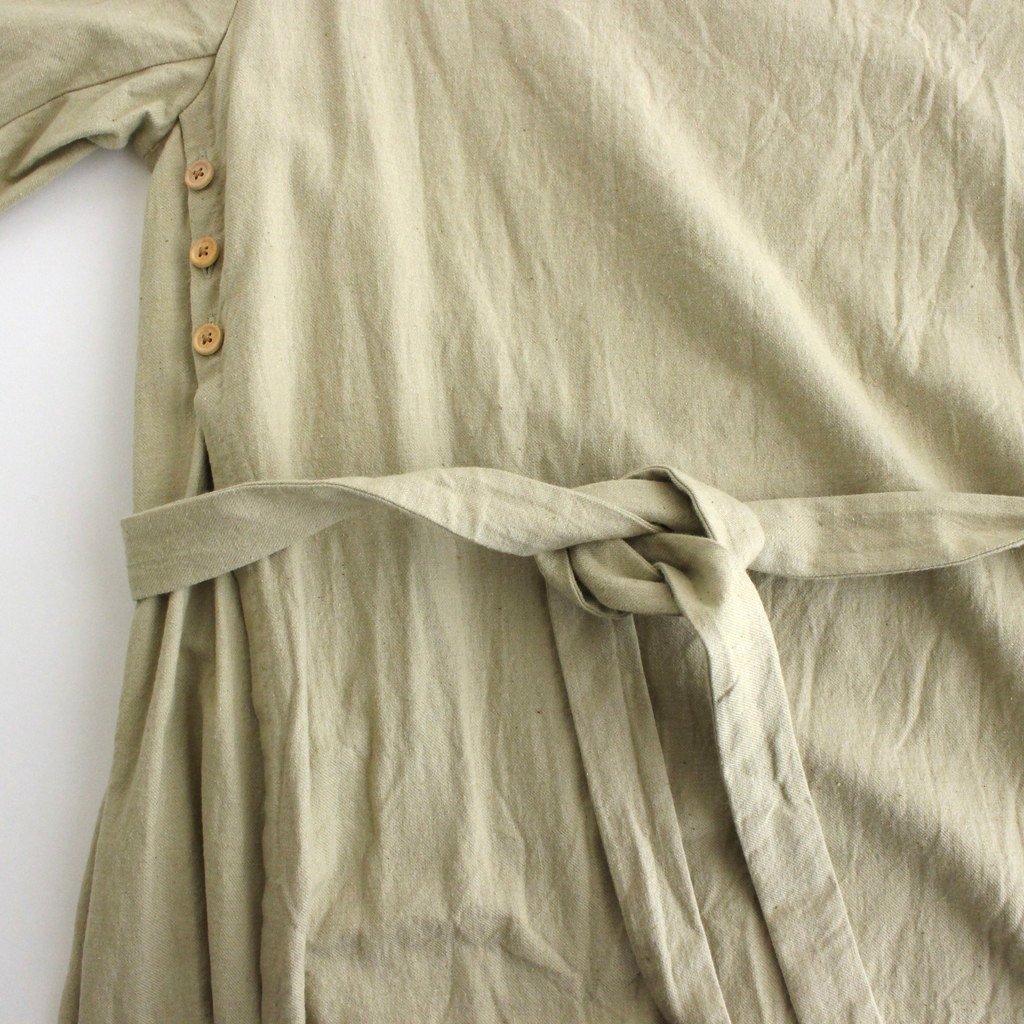 WRAP DRESS #IRON MORDANT [91718]