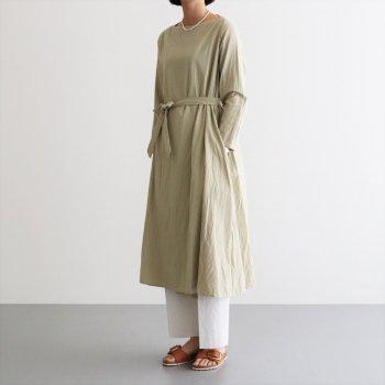 WRAP DRESS #IRON MORDANT [91718] _ YAECA   ヤエカ