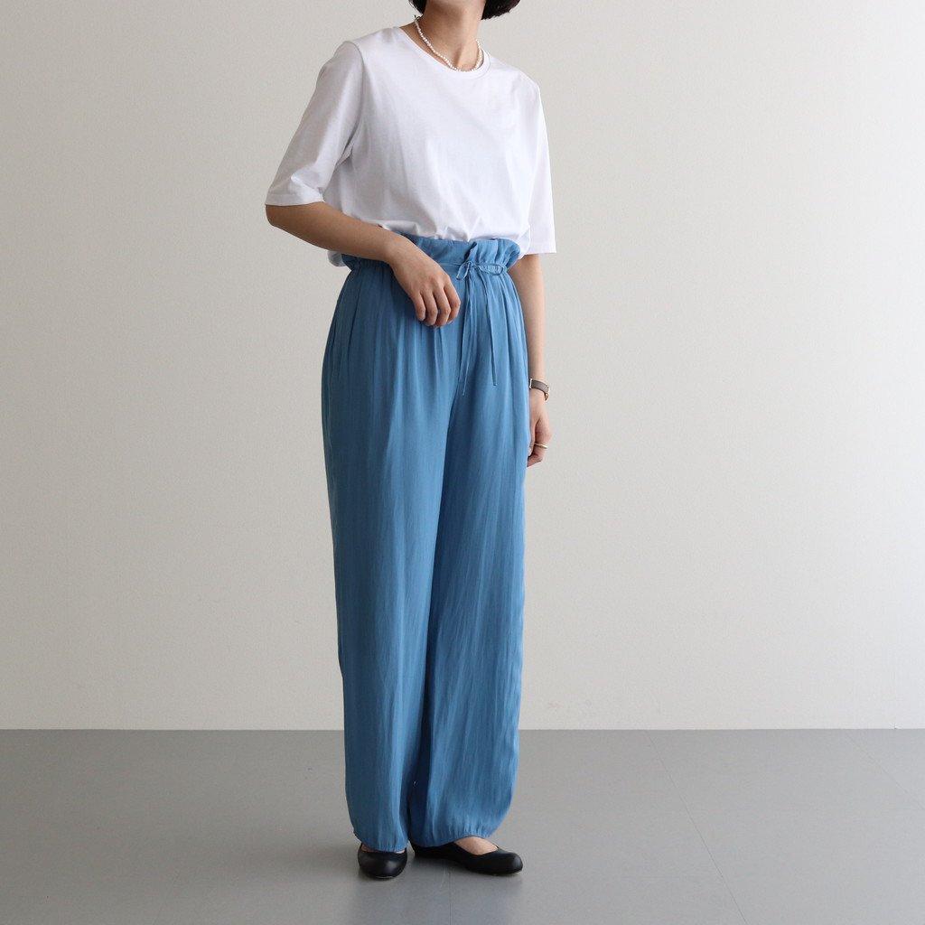 サテンイージーパンツ #BLUE [TBAS-414]