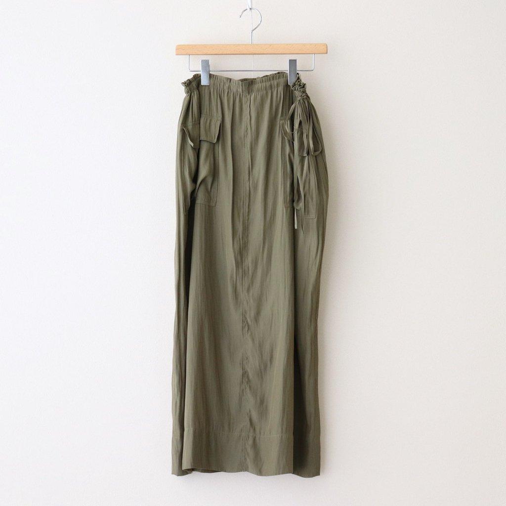 サテン3WAYスカート #KHAKI [TBAS-413]