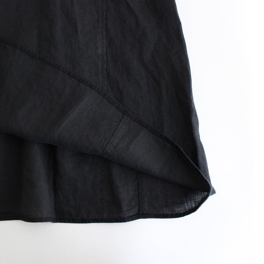 ノーカラーフレンチワンピース #BLACK [TBAS-406]
