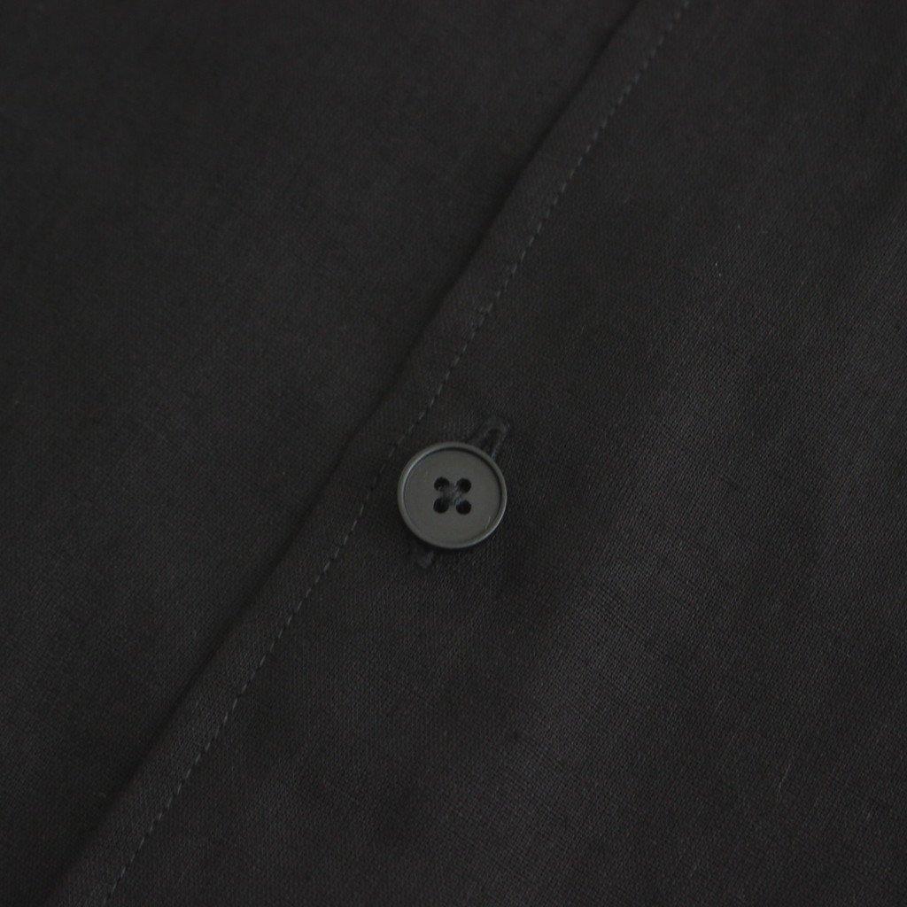 FCVSH | スラブトリアセテート・ガーゼ スモールカラーワイドシャツ #BLACK [AR_FR011SF]