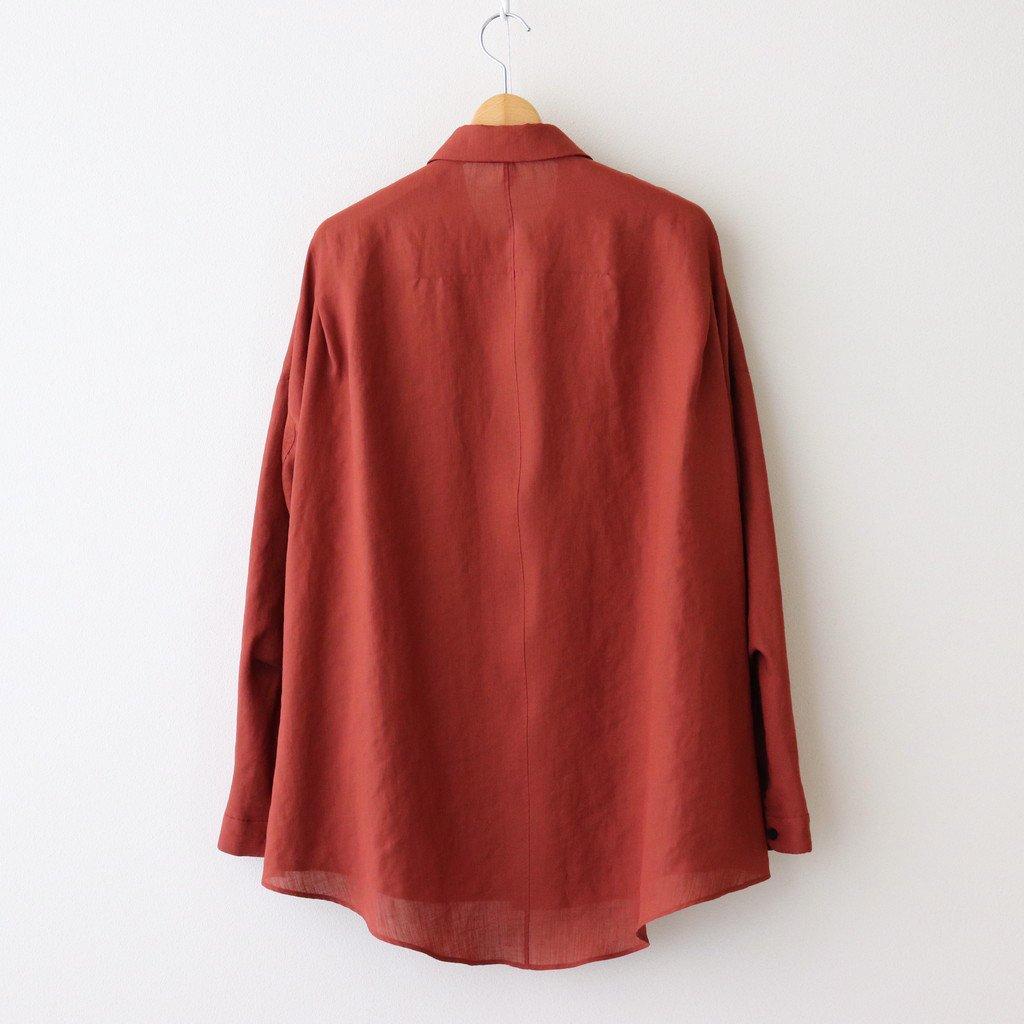 FTSOSH | スラブトリアセテート・ガーゼ スモールカラーオーバーシャツ #TERRACOTTA [AR_FR013SF]